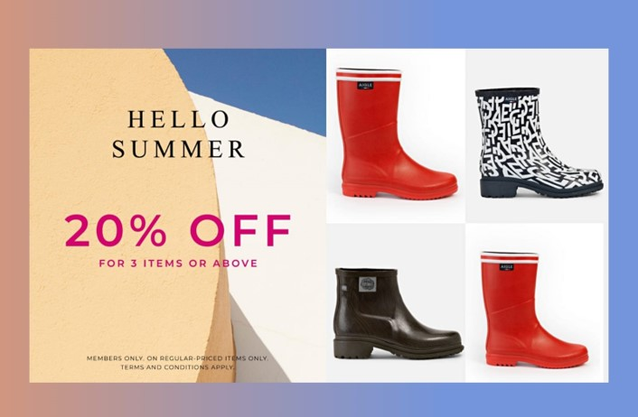 AIGLE 圓方專門店 和你一起迎接夏天變幻莫測的天氣