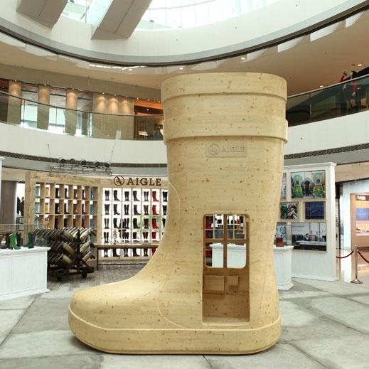 AIGLE SAVOIR FAIRE SAVOIR VIVRE Exhibition at ifc mall, Hong Kong