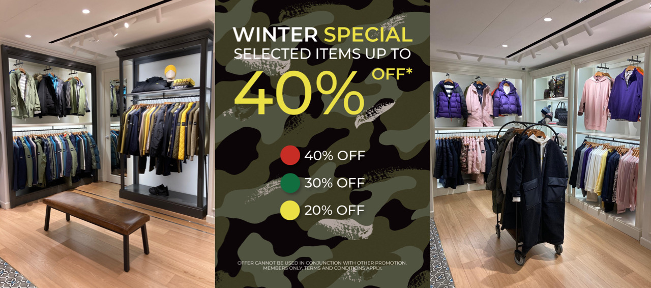 Winter Special Selected Items Up To 40% off