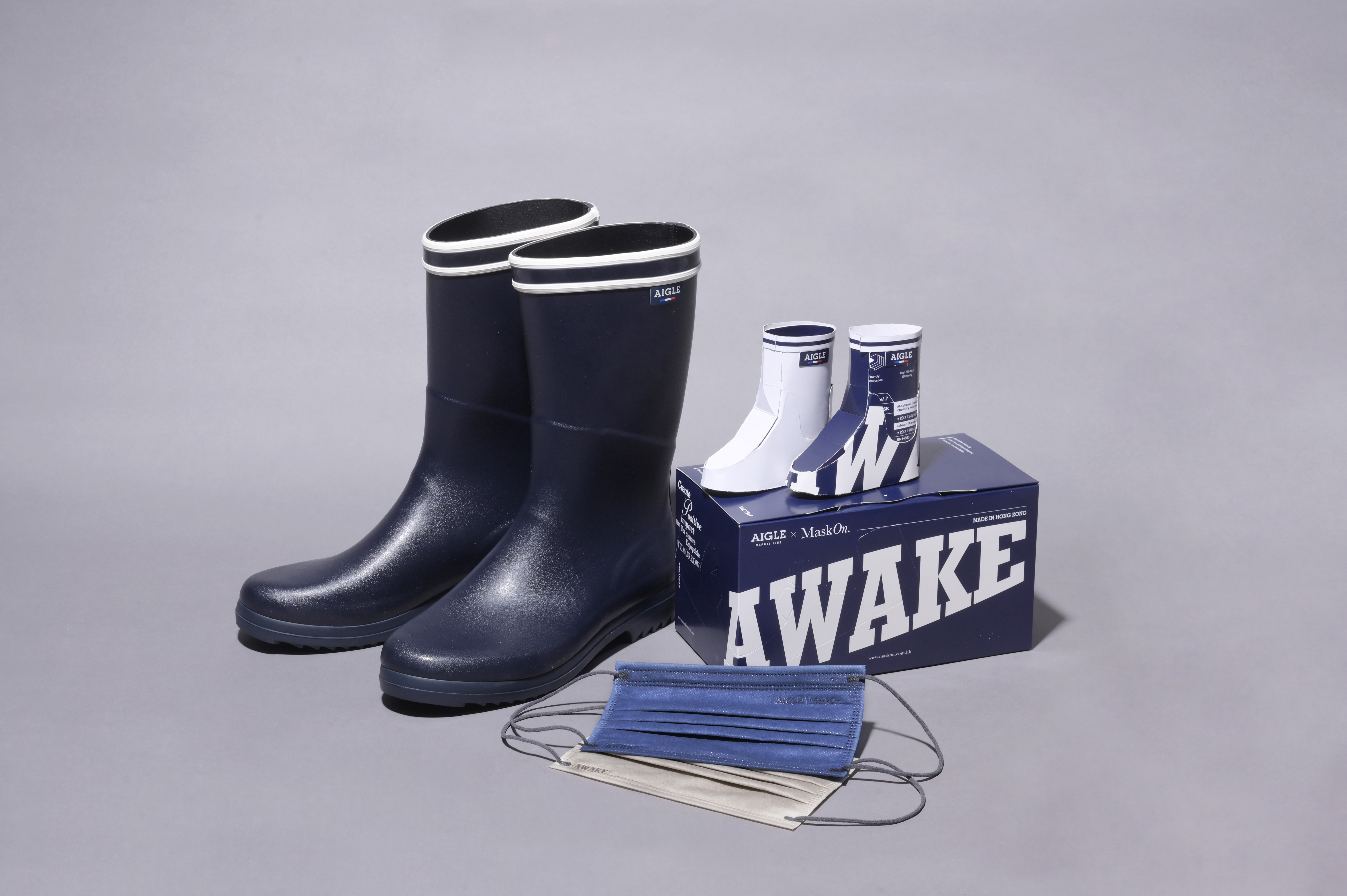 AIGLE COLLABORATE WITH HONG KONG LOCAL BRAND MASKON._ TO ENCOURAGE UPCYCLING CREATIVELY