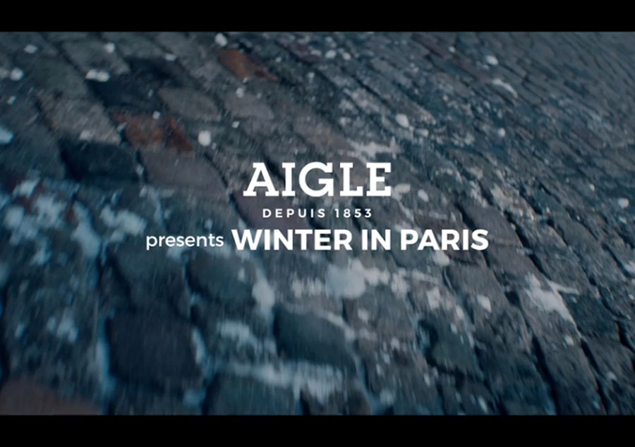 "AIGLE Presents ""WINTER IN PARIS"""